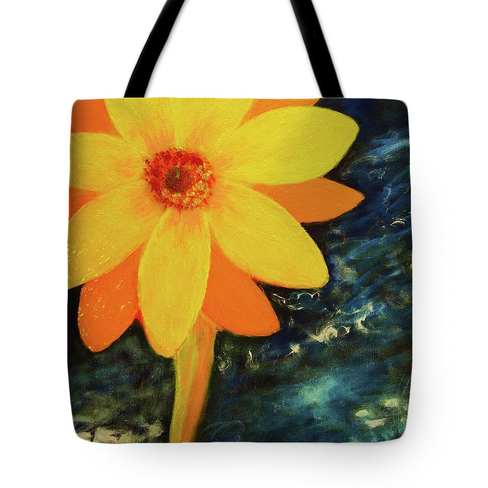 Yellow Tote Bag featuring the painting Yellow Treat by John Scates