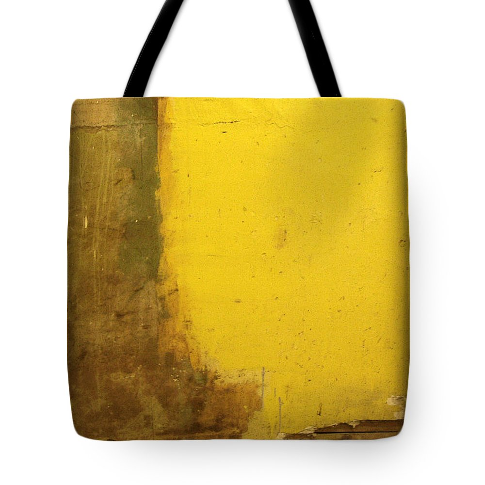 Yellow Tote Bag featuring the photograph Yellow Wall by Tim Nyberg