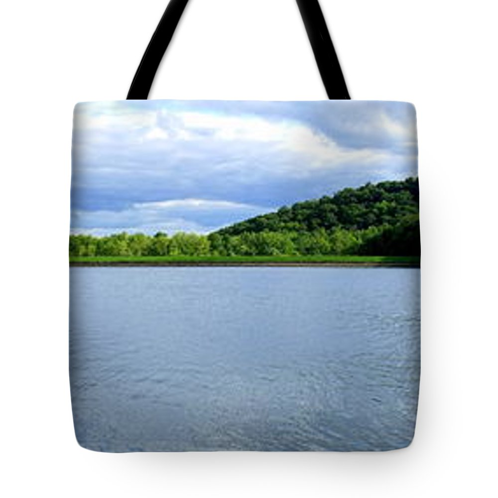 Yellow Wood Lake Tote Bag featuring the photograph Yellow Wood Lake by Ed Smith