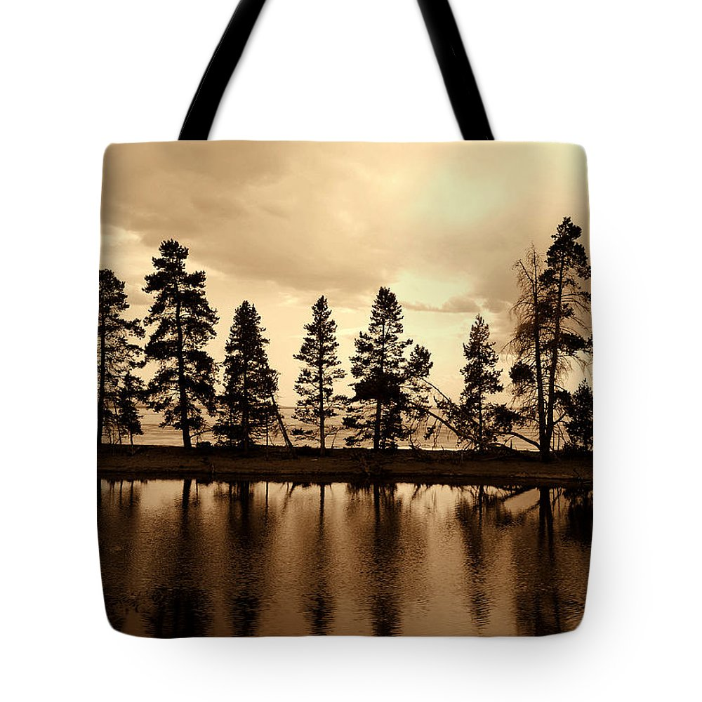 Photography Tote Bag featuring the photograph Yellowstone Lake by Susanne Van Hulst