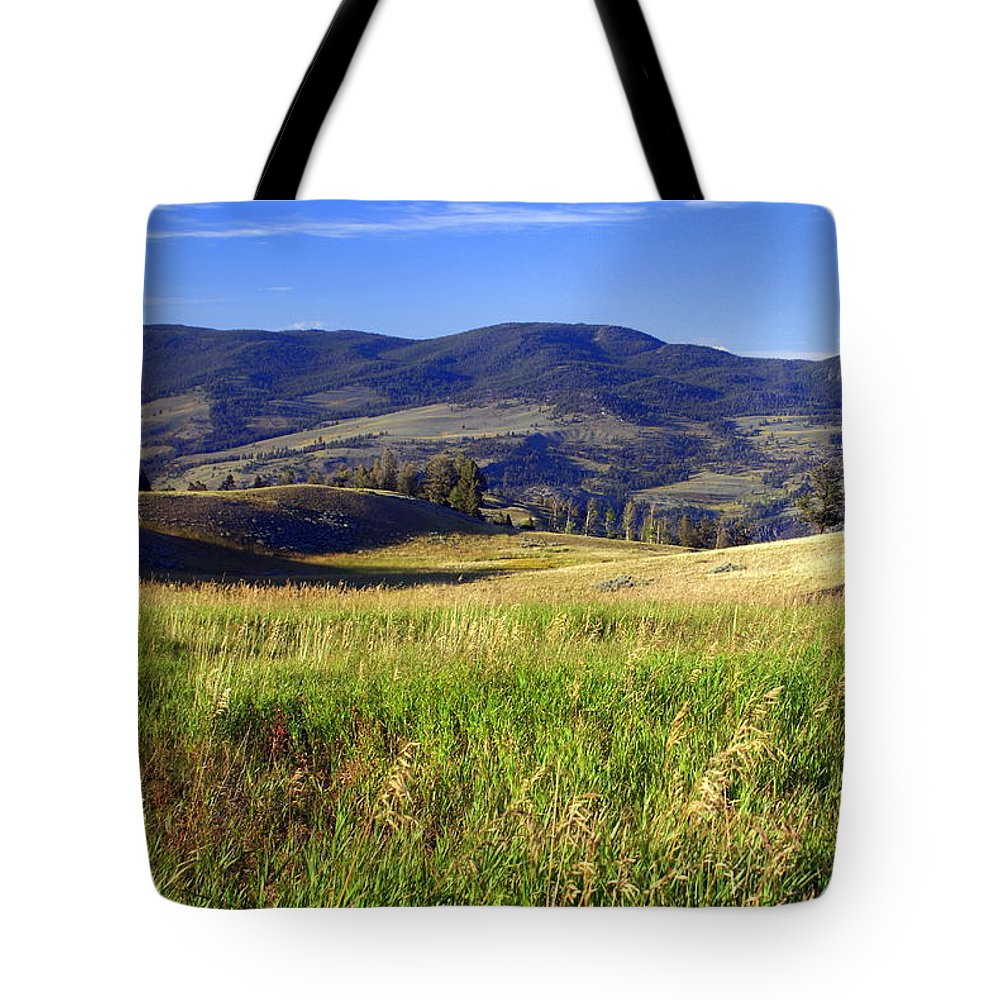 Yellowstone National Park Tote Bag featuring the photograph Yellowstone Landscape 3 by Marty Koch