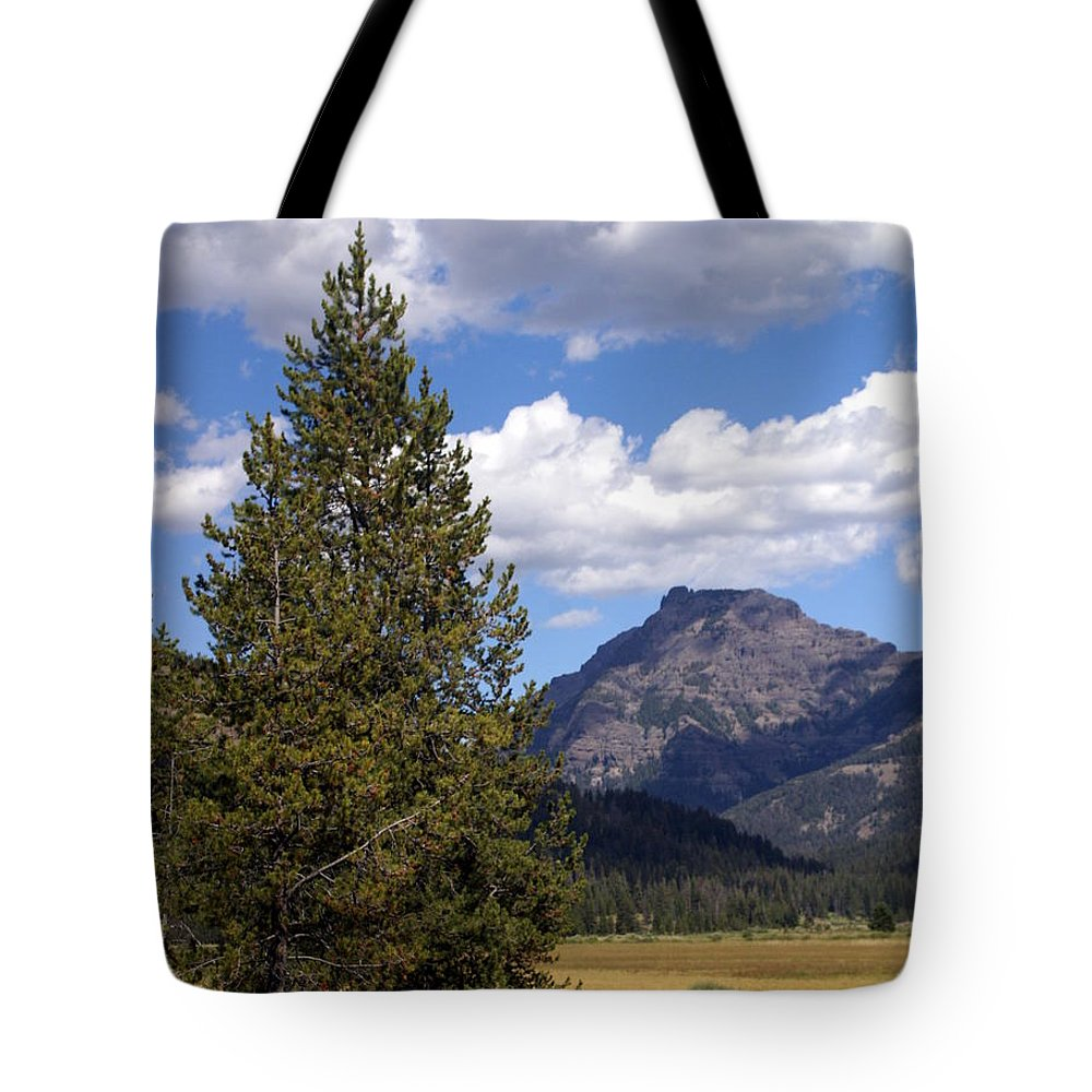 Yellowstone National Park Tote Bag featuring the photograph Yellowstone Landscape by Marty Koch