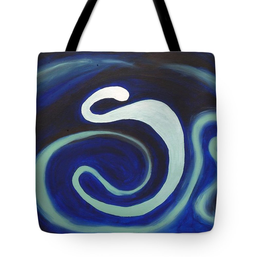 Angry Tote Bag featuring the painting Yes Father I Am Mad At The Universe. by Lola Connelly