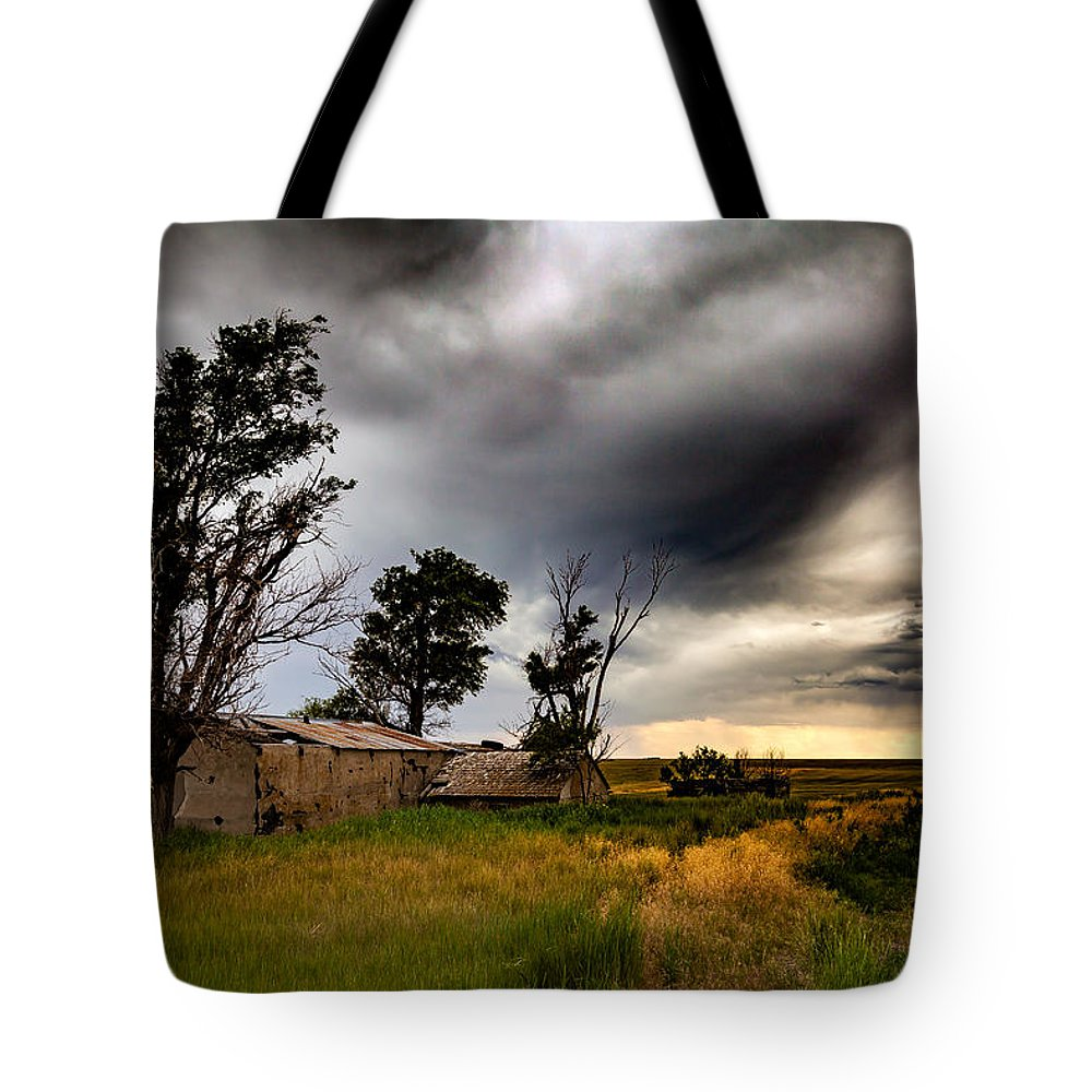 Storm Tote Bag featuring the photograph Yesterday by Bobby Eddins