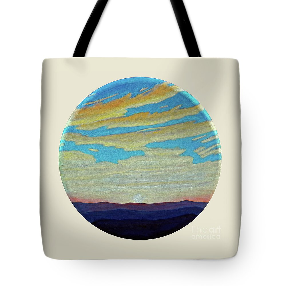 Landscape Tote Bag featuring the painting Yesterday by Brian Commerford