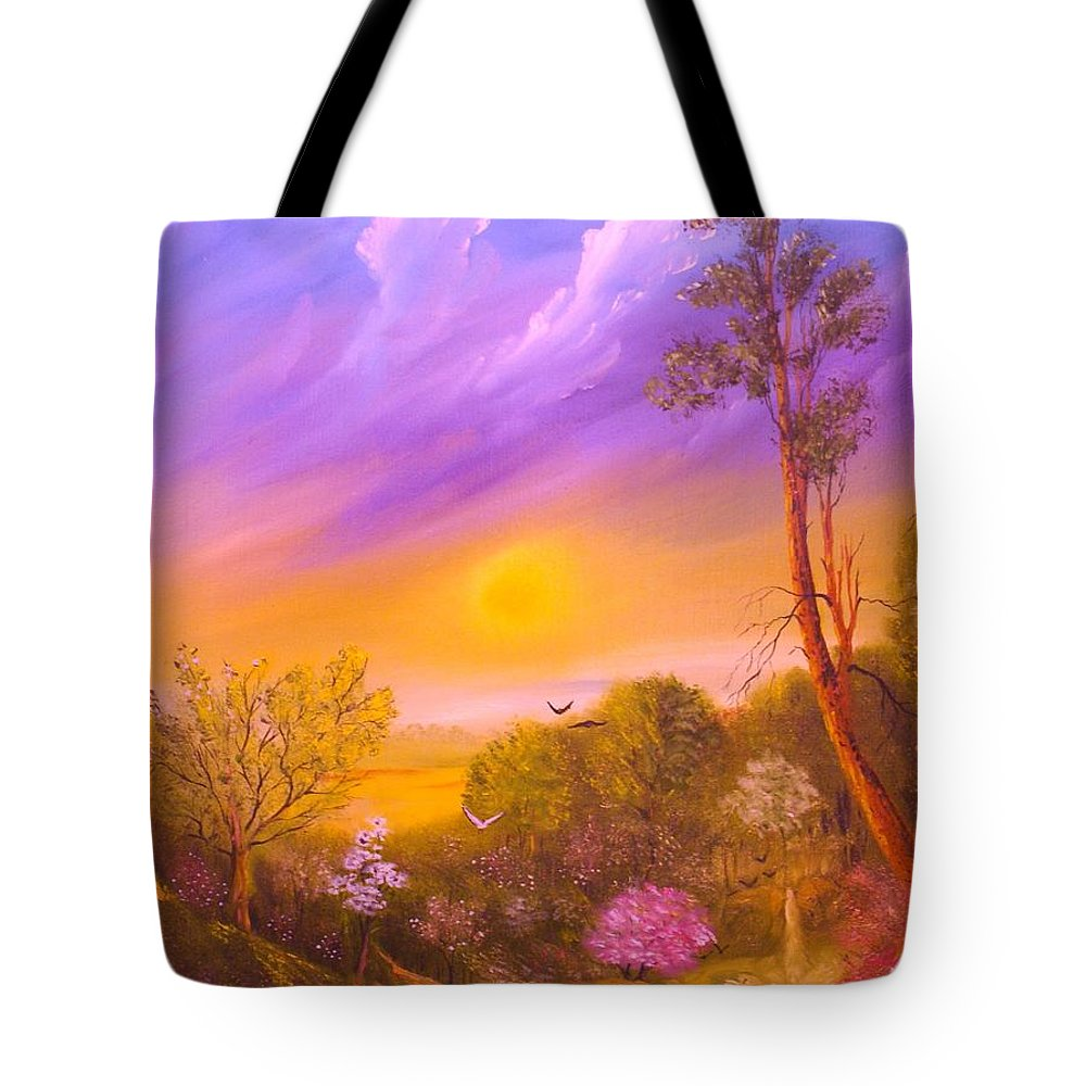 Nature Tote Bag featuring the painting Yesterday by Lorenzo Roberts