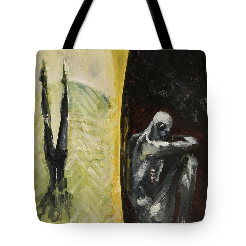 Anatomy Tote Bag featuring the painting Middle Passage by Craig Newland