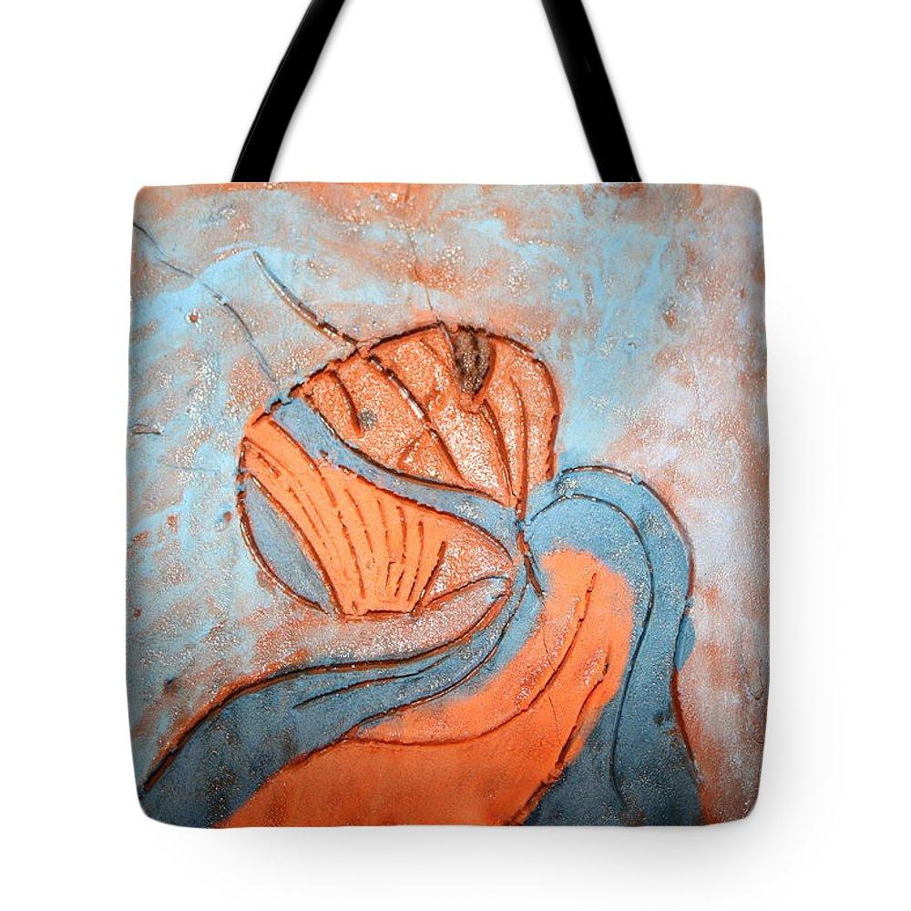 Jesus Tote Bag featuring the ceramic art Yogaic - Tile by Gloria Ssali