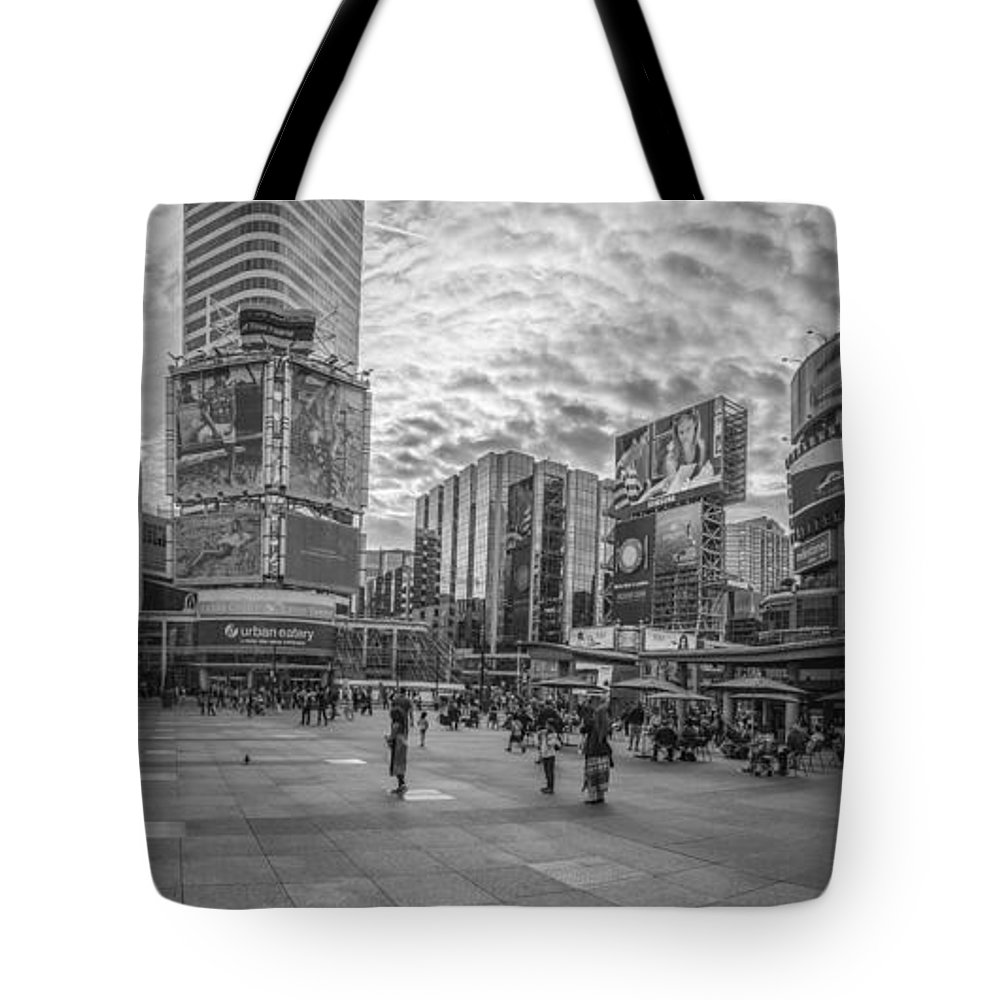Toronto Tote Bag featuring the photograph Yonge-dundas Square by John McGraw