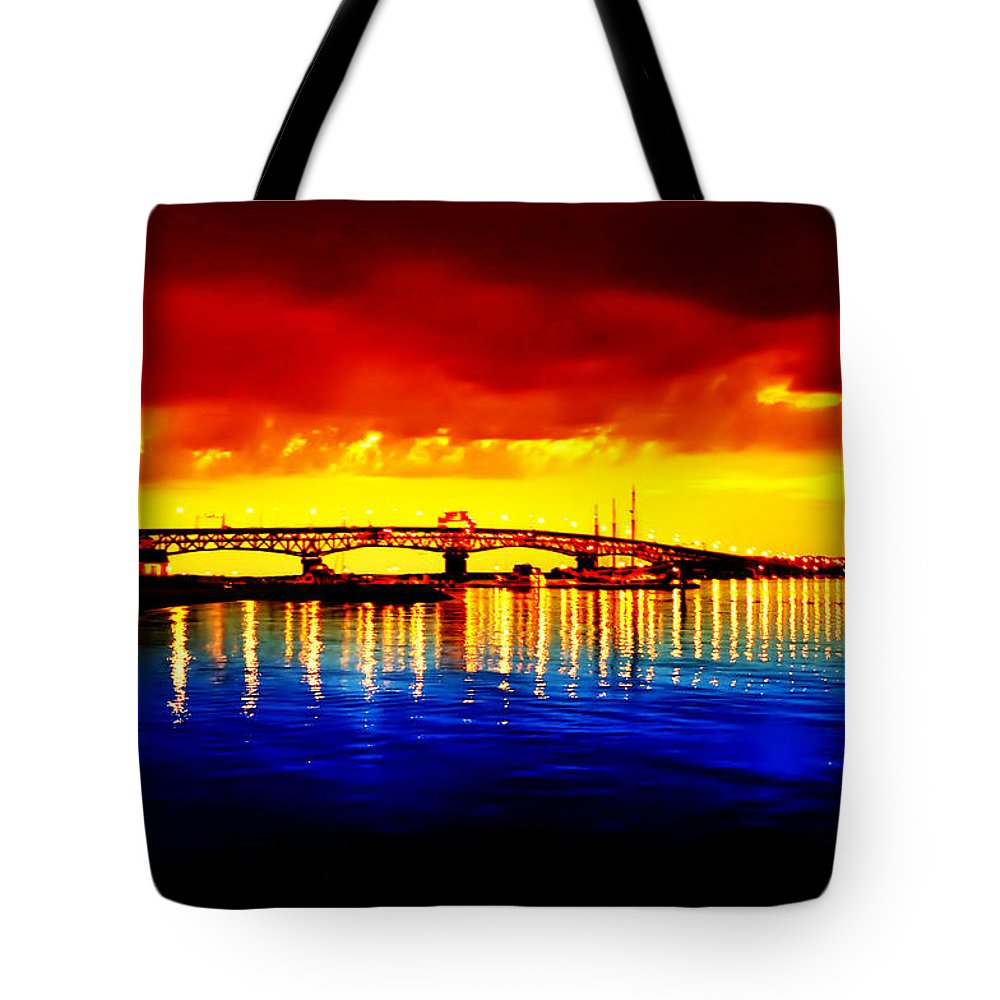Jamestown Tote Bag featuring the photograph Yorktown Virgina by Bill Cannon