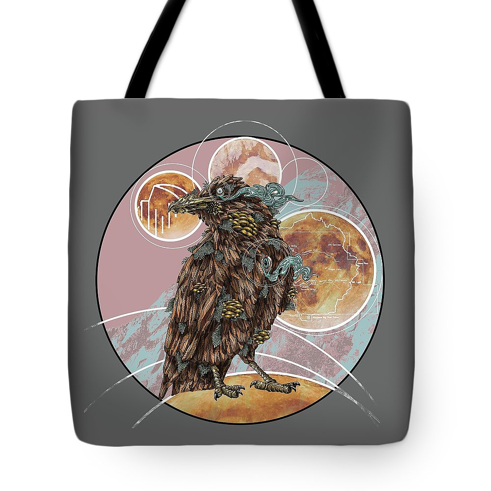 Tote Bag featuring the digital art Yosemite Conspiracy by Cory Bowman