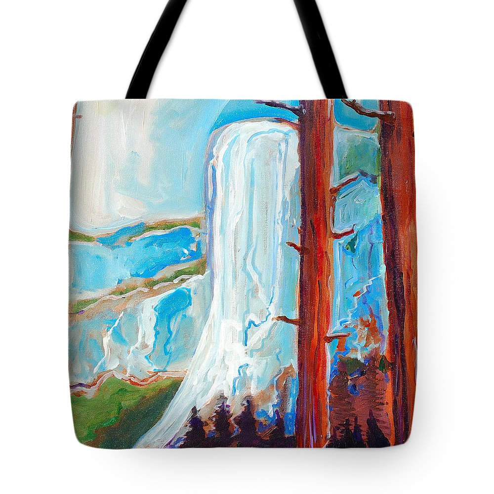 Tote Bag featuring the painting Yosemite by Kurt Hausmann