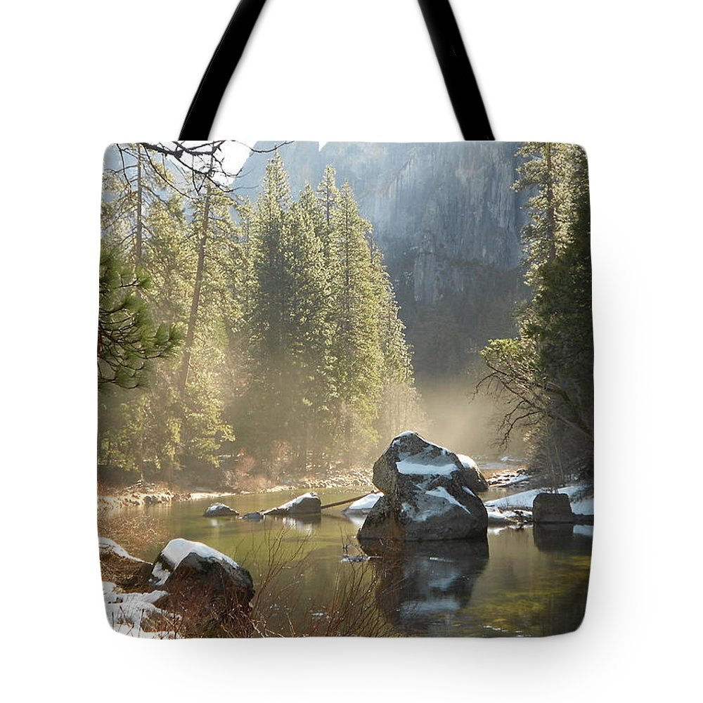 Yosemite Spring Tote Bag featuring the photograph Yosemite Spring by FD Graham