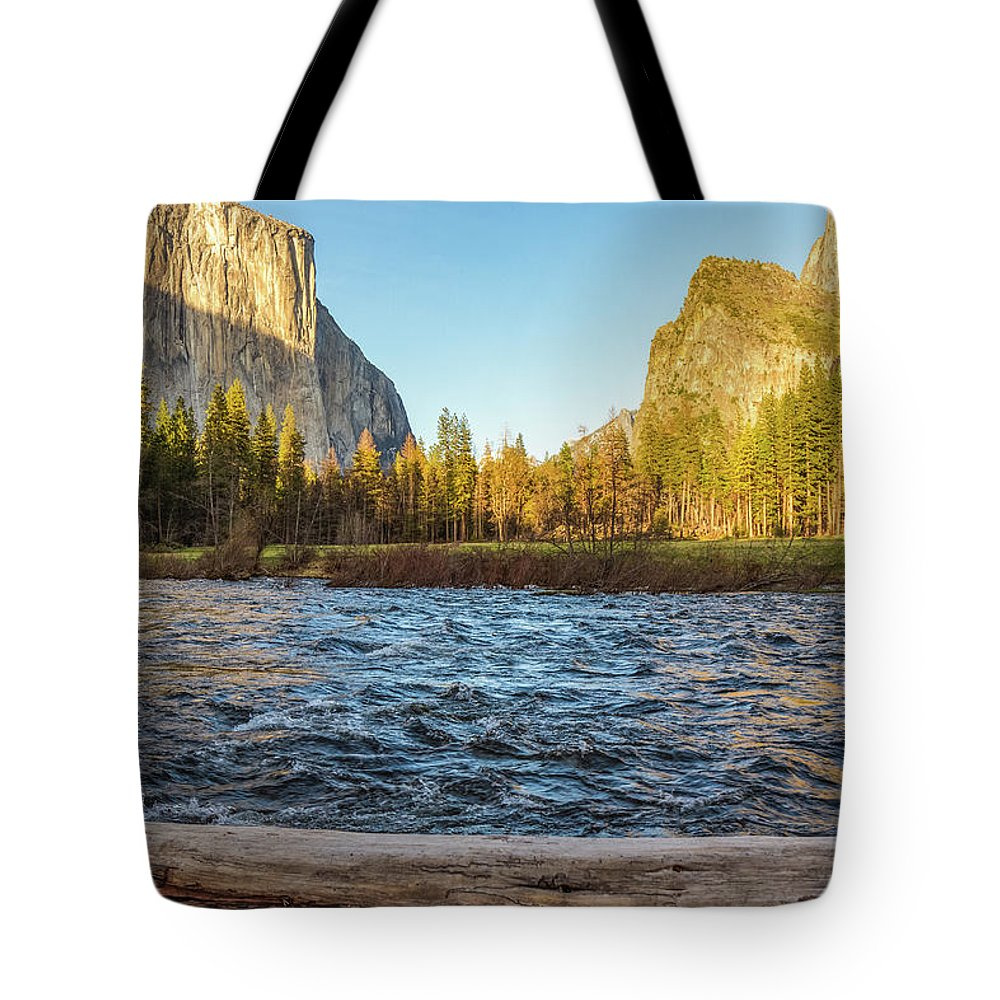 California Tote Bag featuring the photograph Yosemite Sunset by Patrick Civello