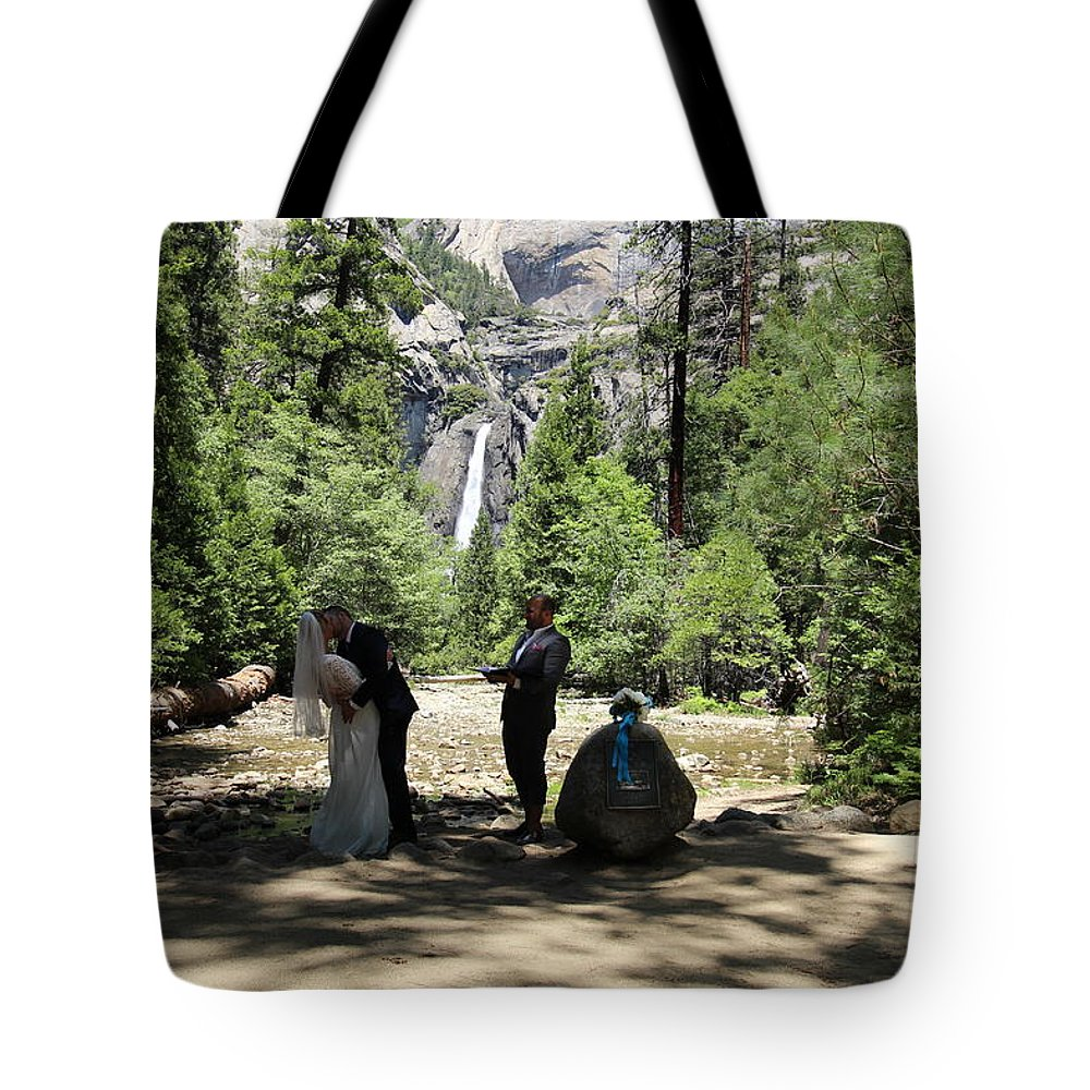 Tote Bag featuring the painting Yosemite Wedding by Travis Day