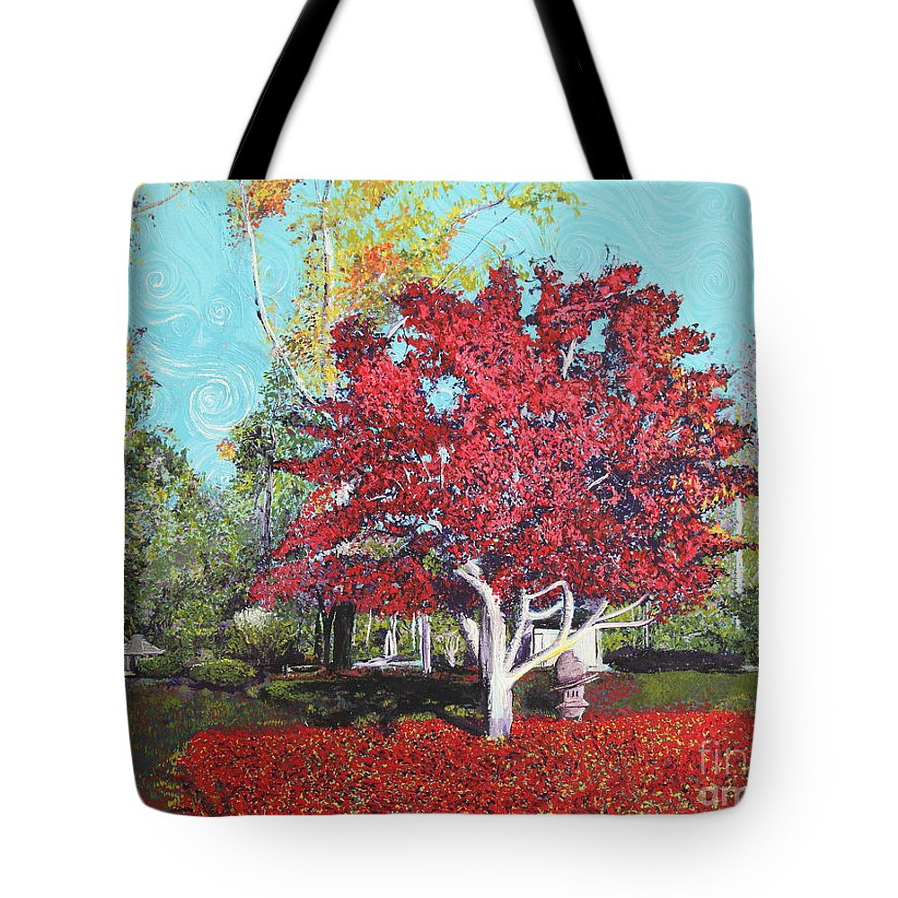 Tree Tote Bag featuring the painting You Are My Heart by Stefan Duncan
