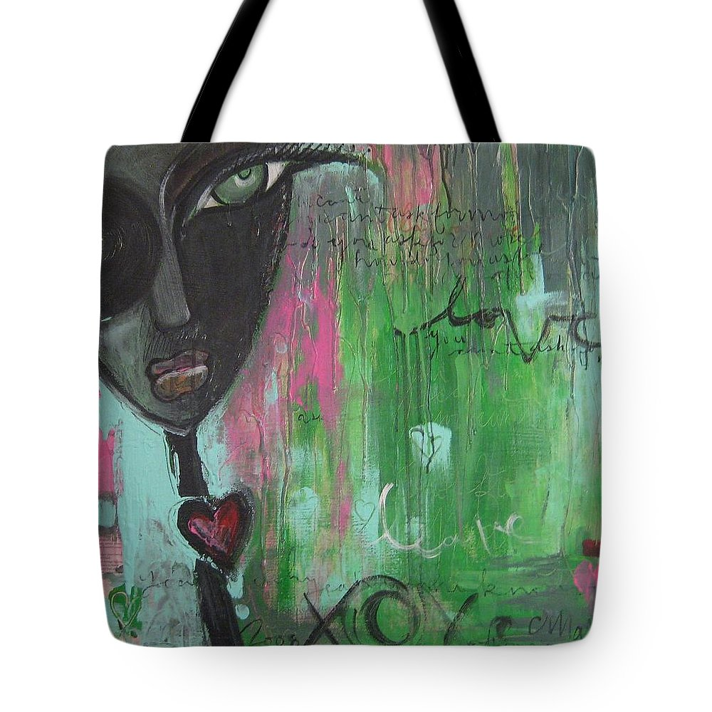 Figurative Tote Bag featuring the painting You Cant Ask For More by Laurie Maves ART