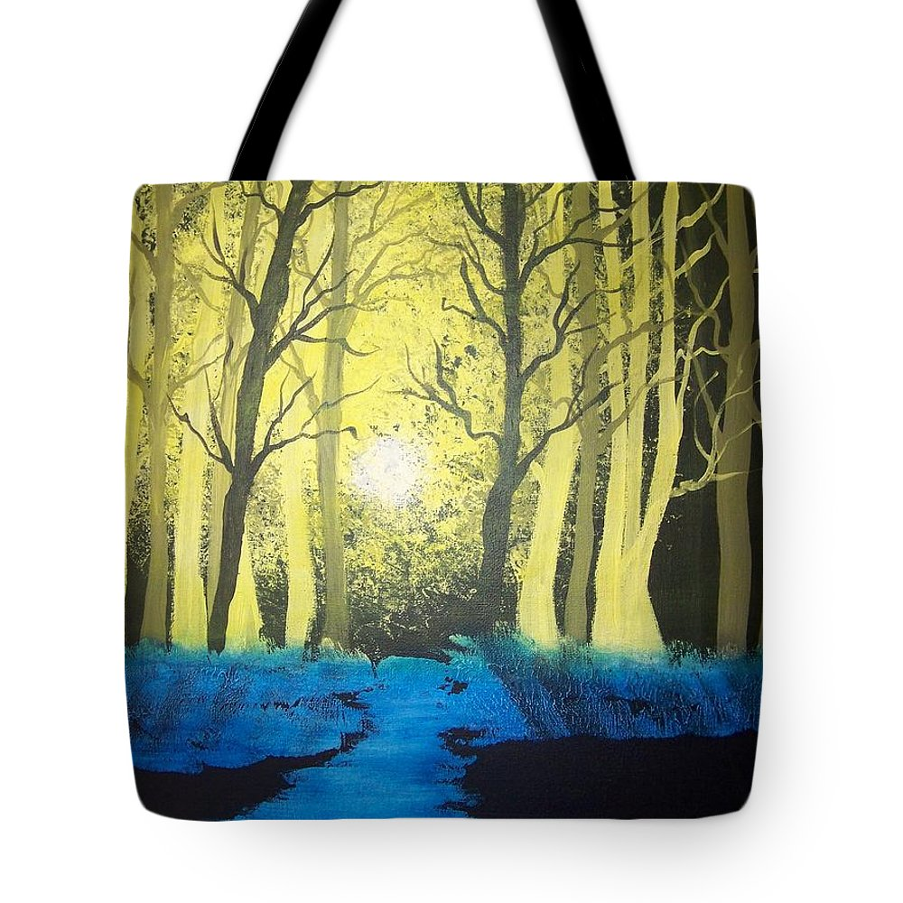 Forest Tote Bag featuring the painting You Cant See The Forest For The Trees by Laurie Kidd