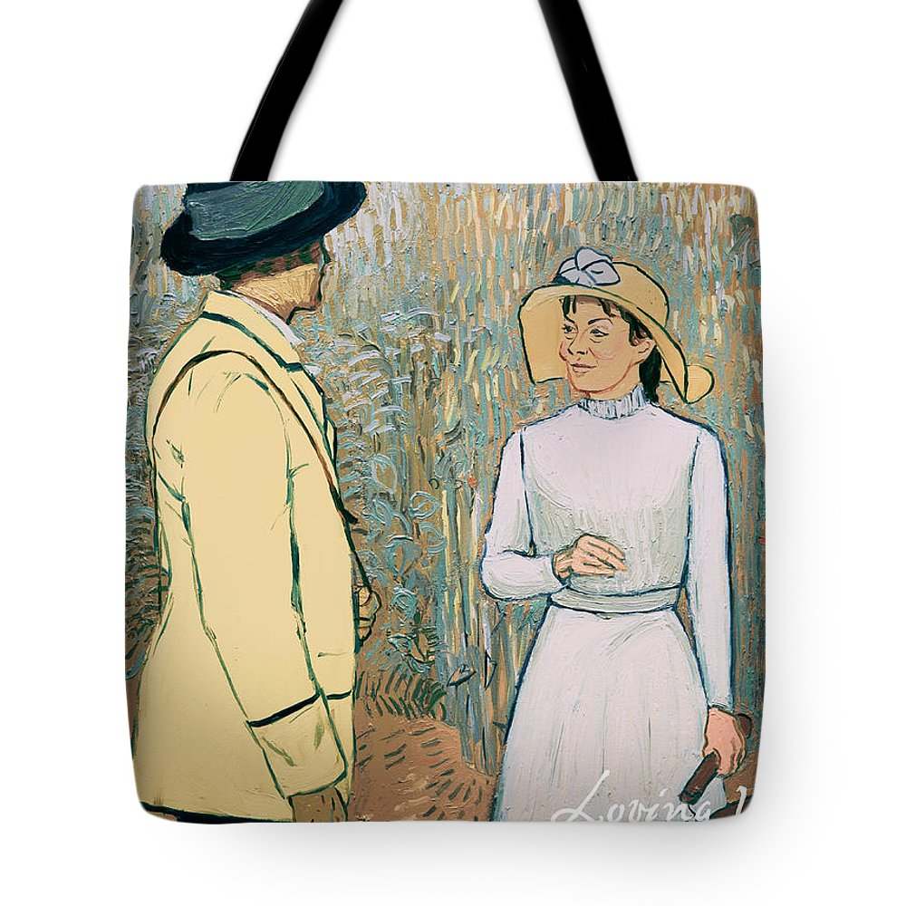 Tote Bag featuring the painting You Don't Want to Stay There by Olga Krolak