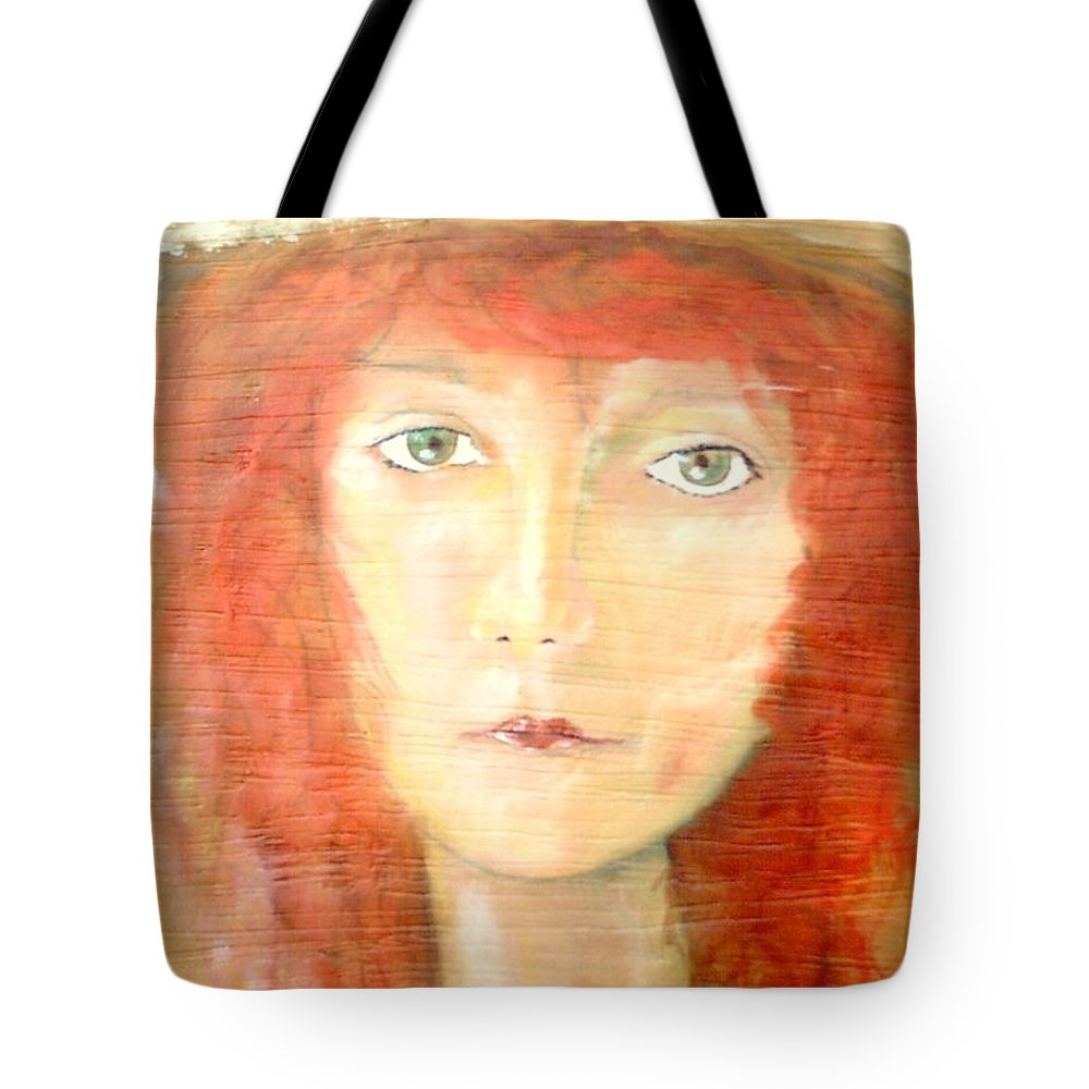 Woman Tote Bag featuring the painting You Found My Hat by J Bauer