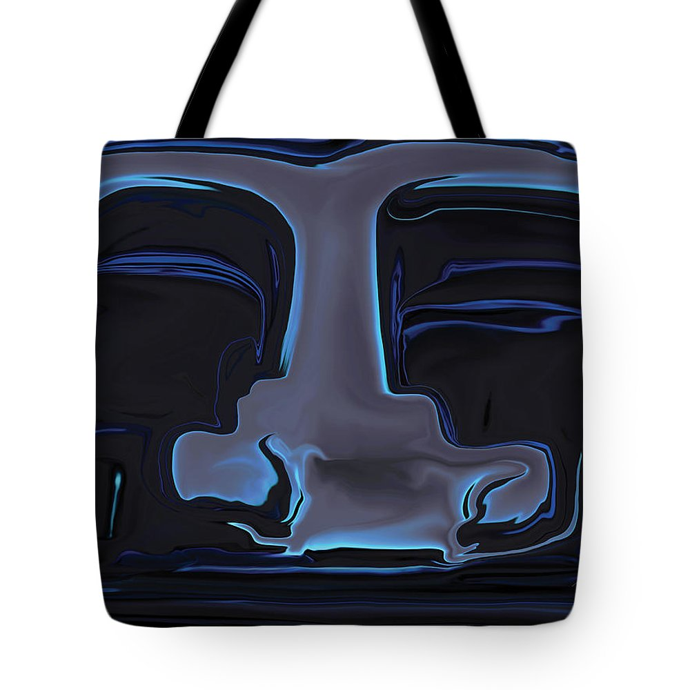 Black Tote Bag featuring the digital art You N Me by Rabi Khan