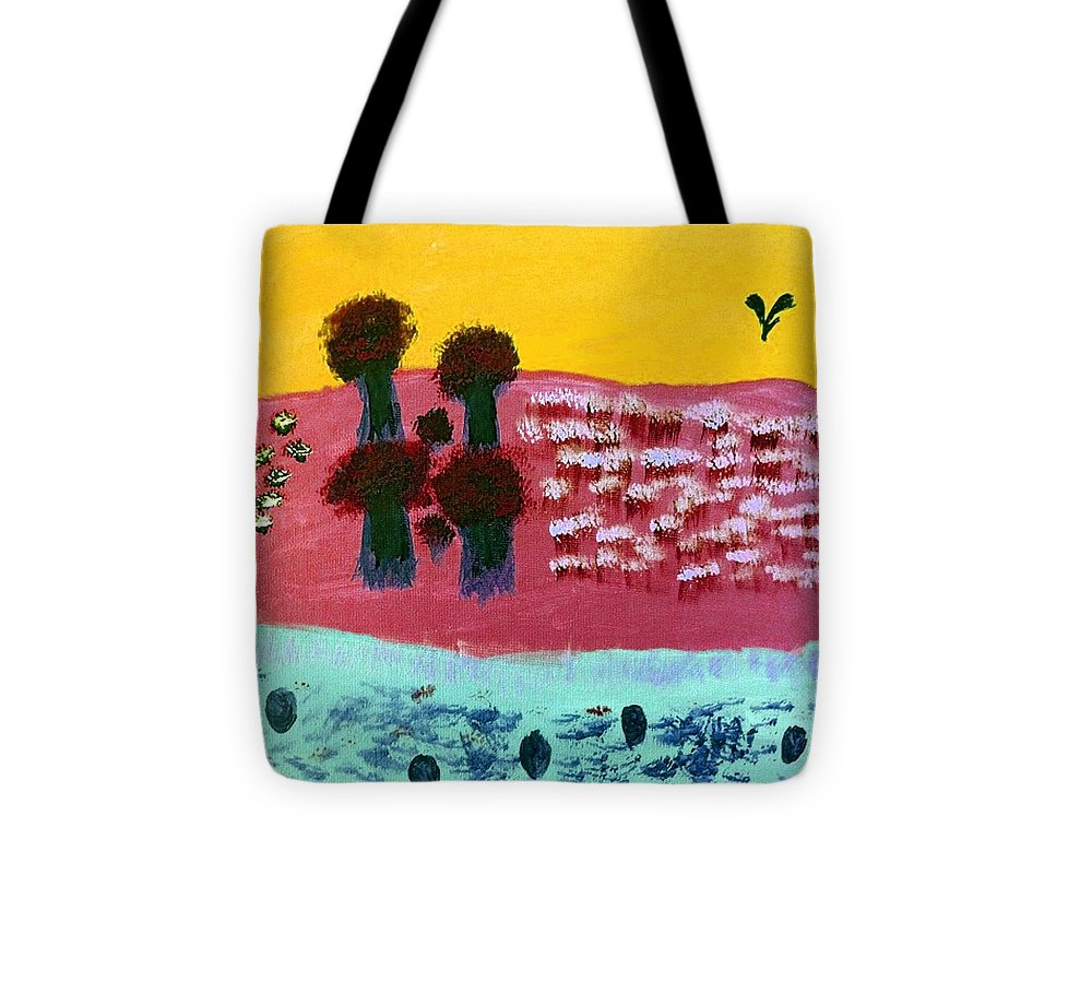 Land Tote Bag featuring the digital art You River by Lorraine Donfor-Chen