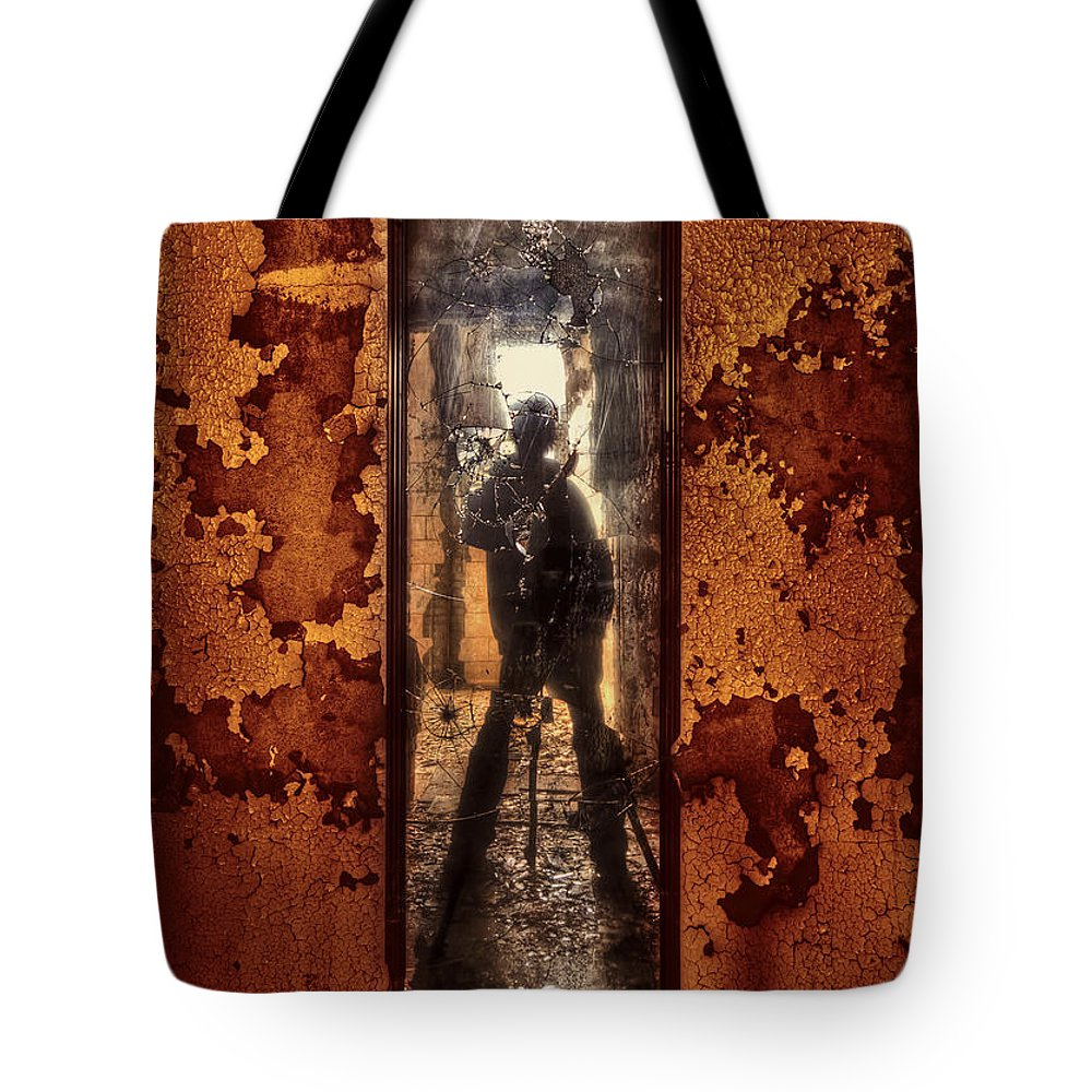 Self Tote Bag featuring the photograph You Shot A Hole In My Soul by Evelina Kremsdorf