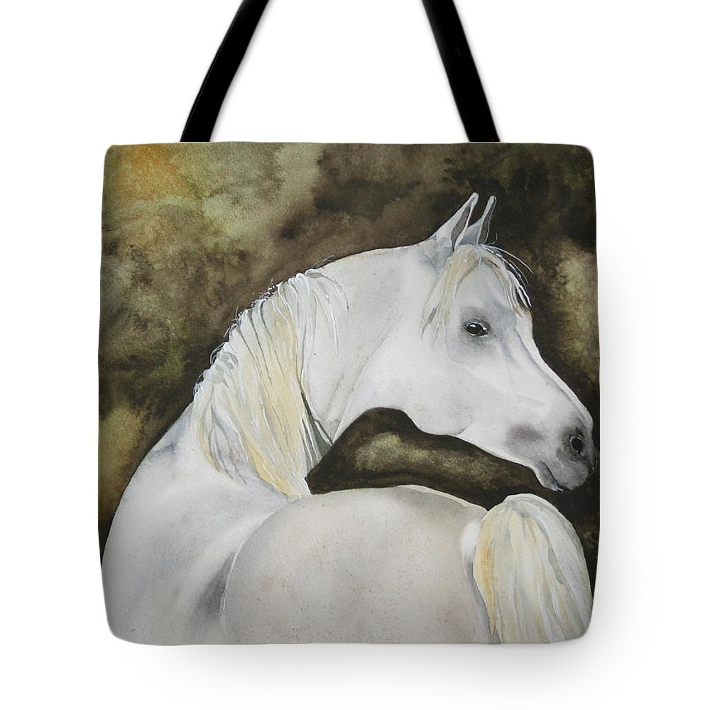 Horse Tote Bag featuring the painting You Talking To Me by Jean Blackmer
