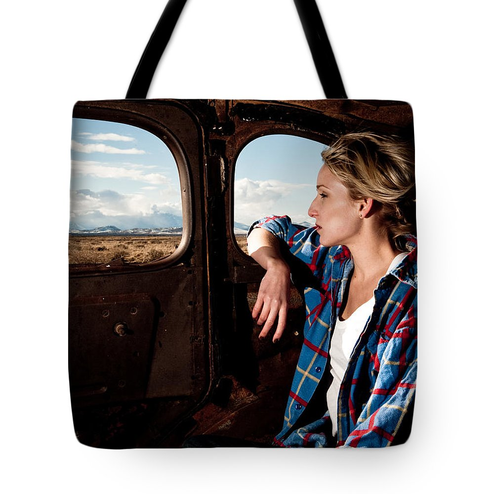 Old Car Tote Bag featuring the photograph Young And The Old by Scott Sawyer