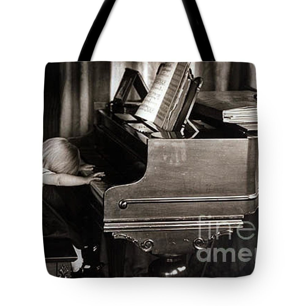 Piano Tote Bag featuring the photograph Young Beethoven by Michael Ziegler