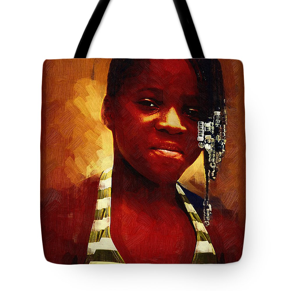 Beautiful Black Children Tote Bag featuring the photograph Young Black Female Teen 1 by Ginger Wakem