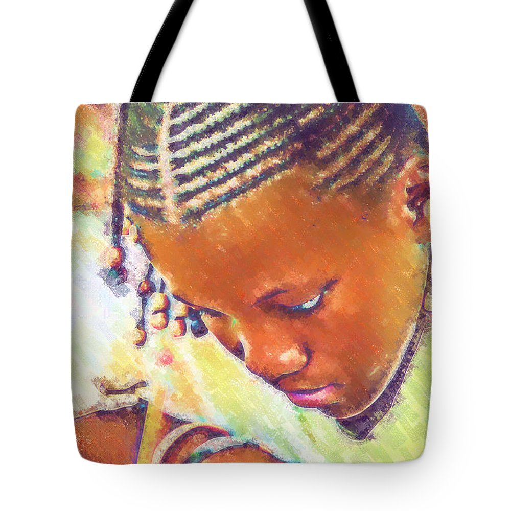 Beautiful Black Children Tote Bag featuring the photograph Young Black Female Teen 2 by Ginger Wakem