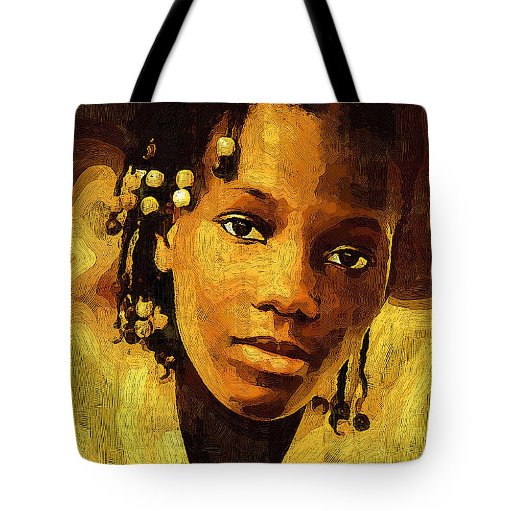 Female Tote Bag featuring the photograph Dreadlocks And Beads by Ginger Wakem