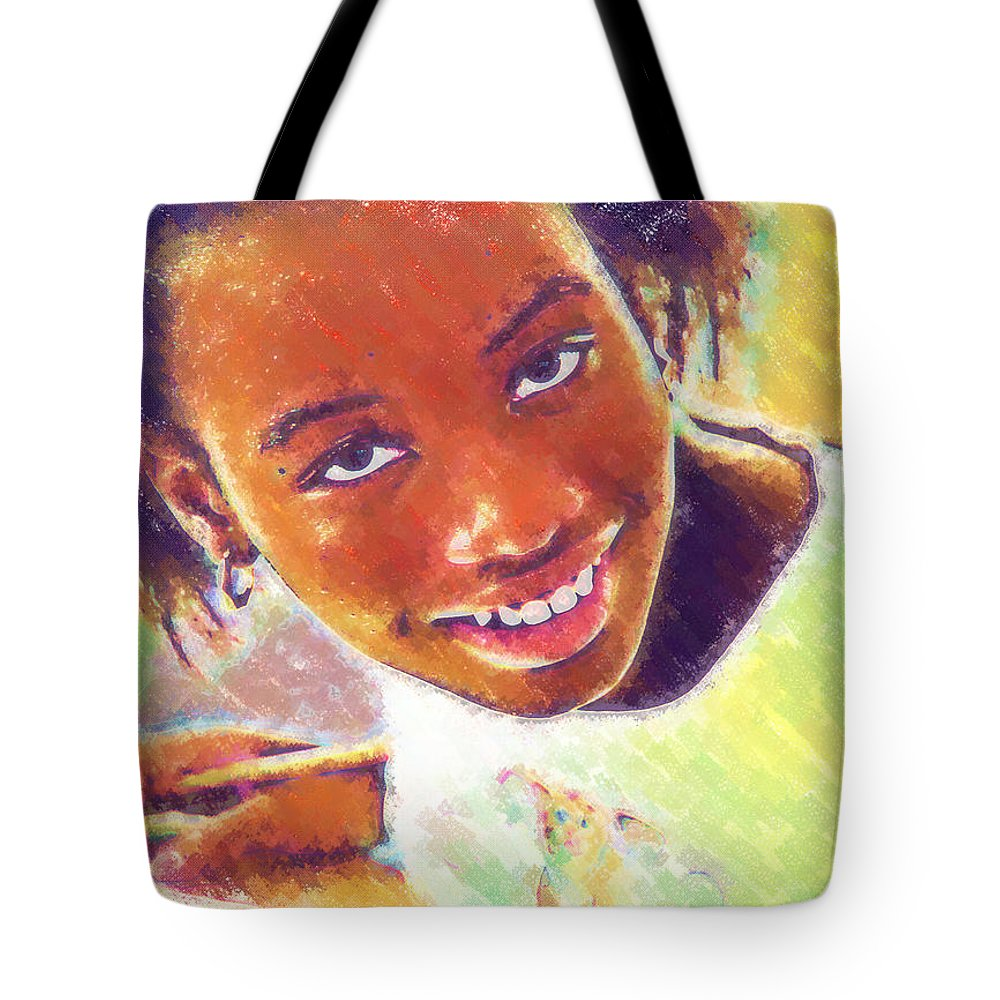 Beautiful Black Children Tote Bag featuring the photograph Young Black Female Teen 5 by Ginger Wakem