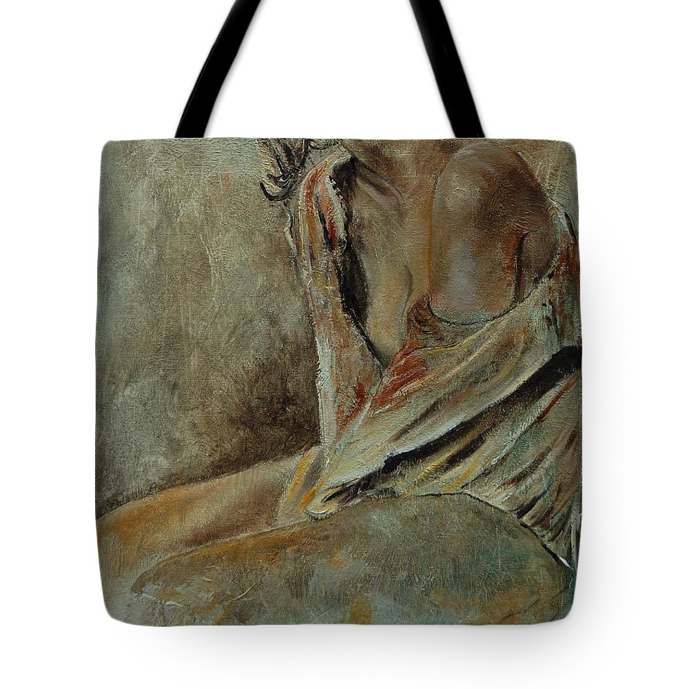 Gir Tote Bag featuring the painting Young Girl 45905040 by Pol Ledent
