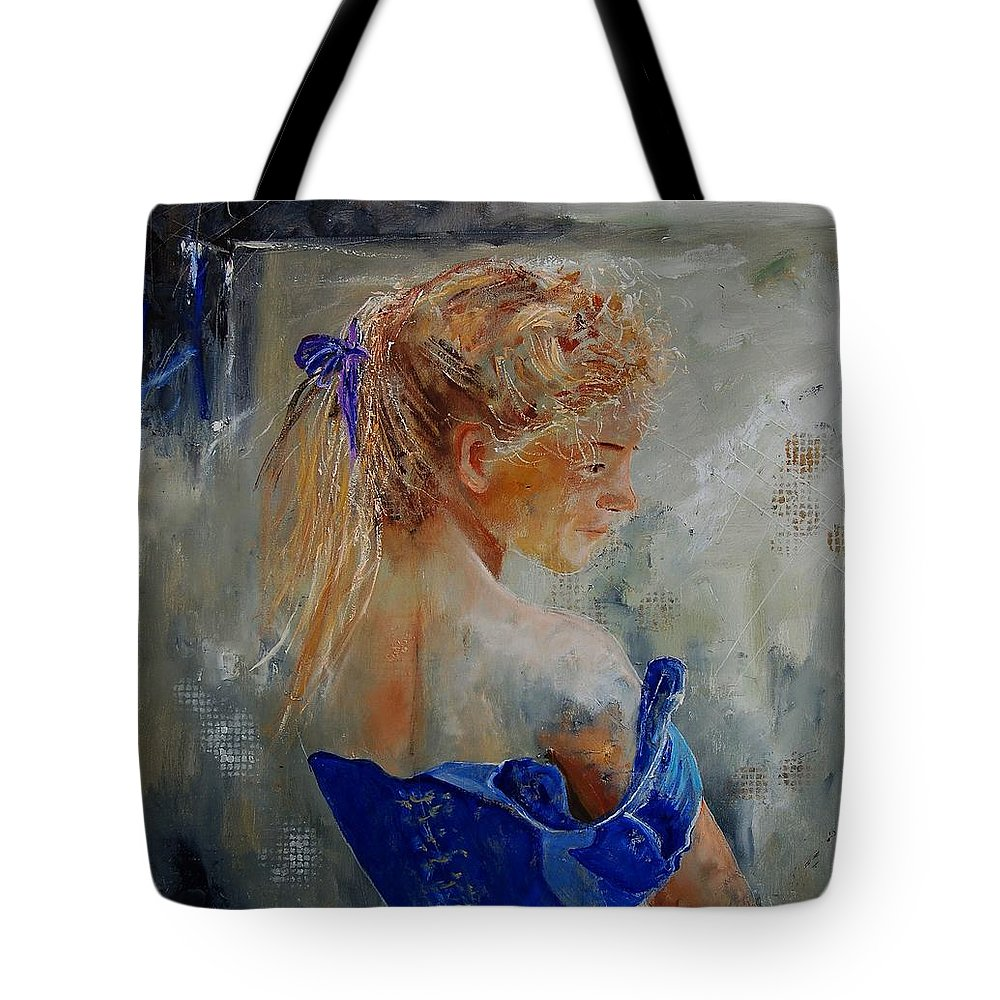 Gir Tote Bag featuring the painting Young Girl 78 by Pol Ledent