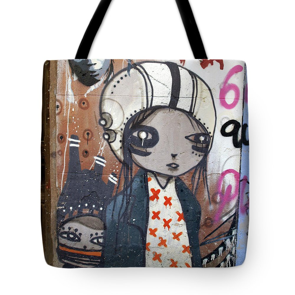 Graffitis Tote Bag featuring the photograph Young Girl by Roger Muntes