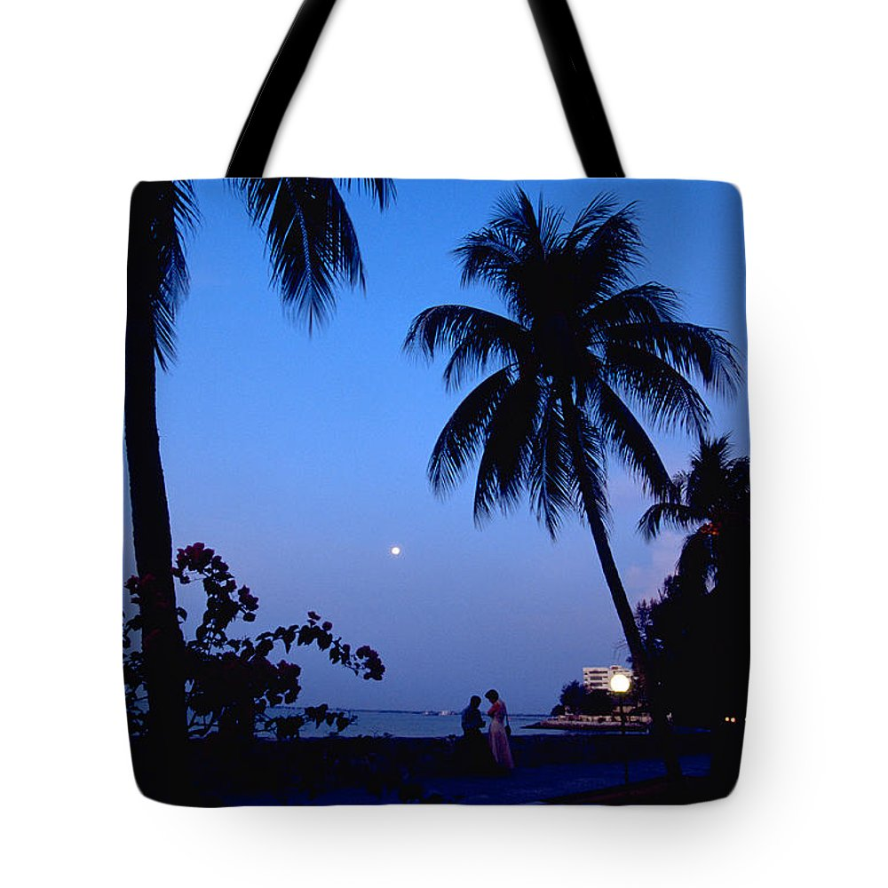 Full Moon Tote Bag featuring the photograph Young Lovers In Penang by Michael Mogensen