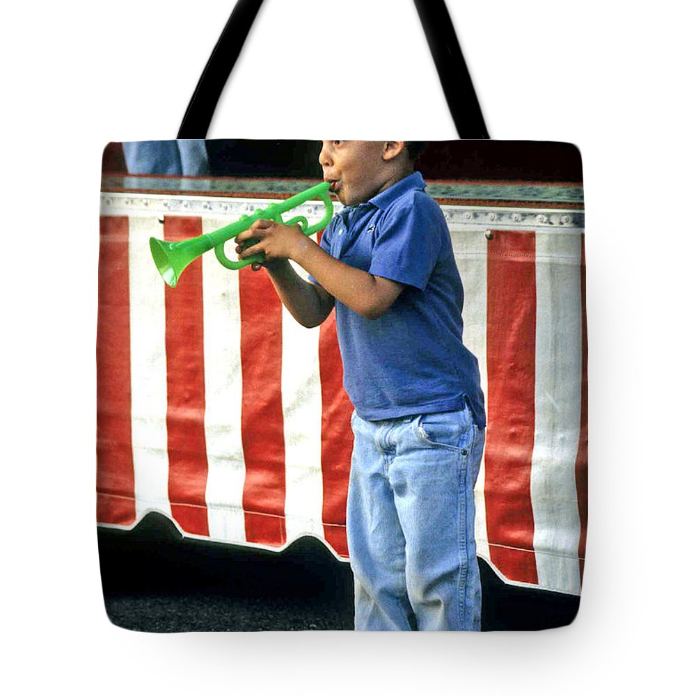 Young Musician Tote Bag featuring the photograph Young Musician by Laurie Paci