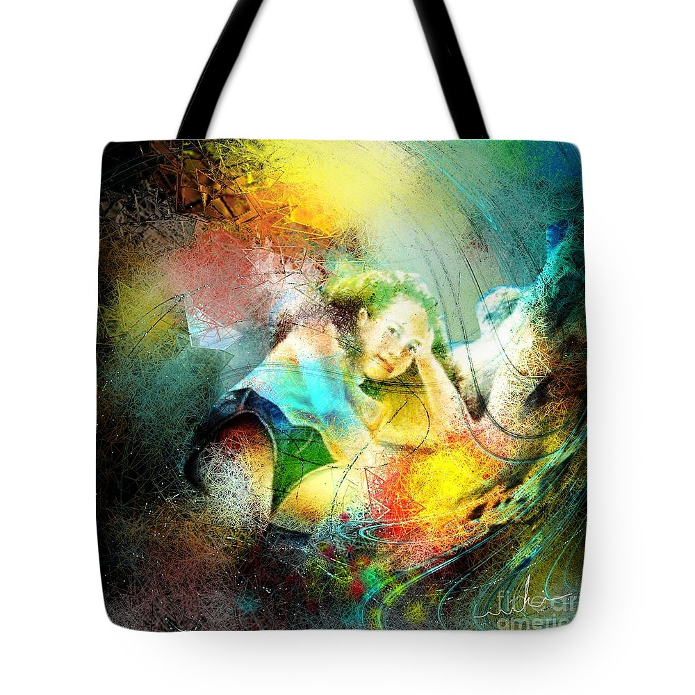 Nature Tote Bag featuring the painting Young Seduction by Miki De Goodaboom