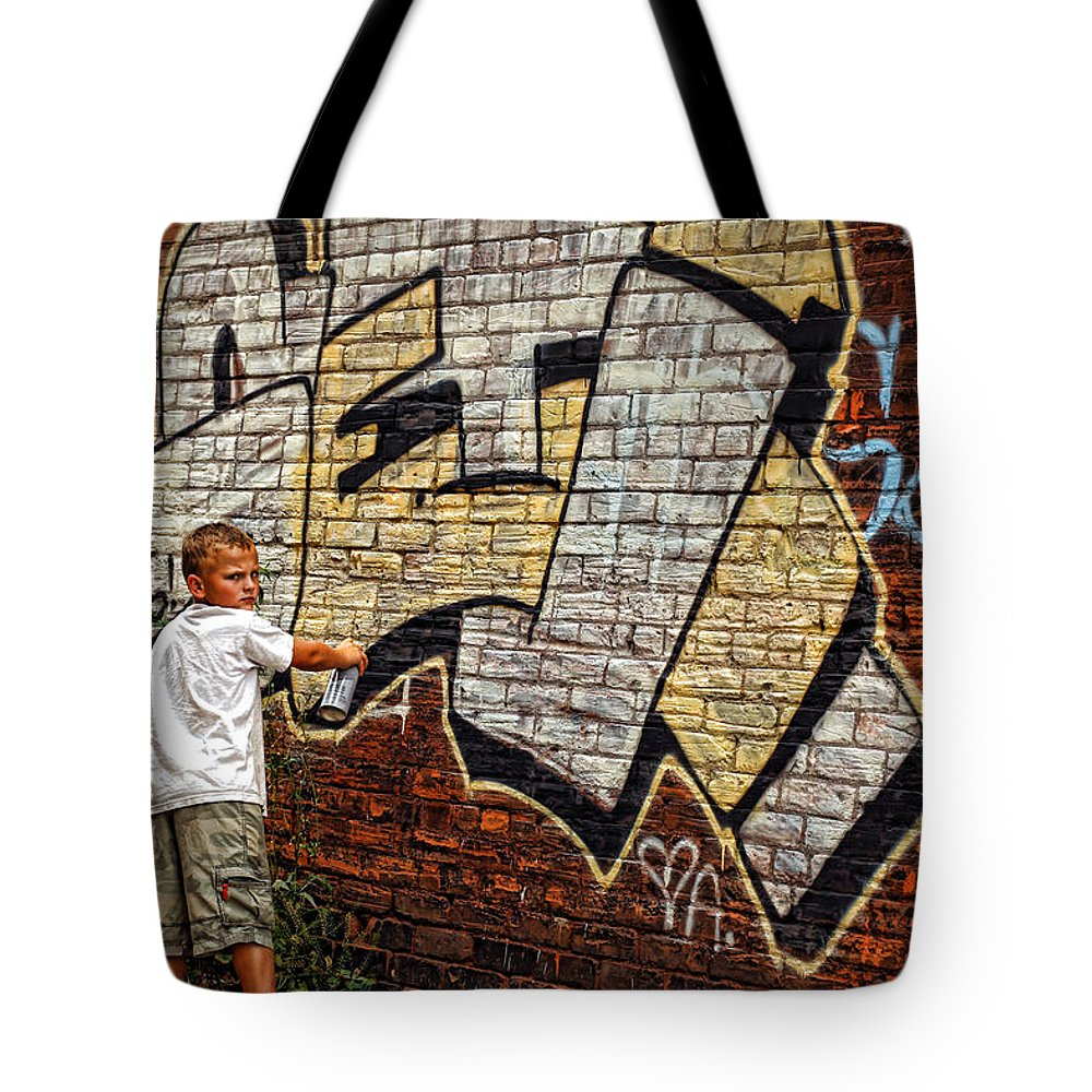 Young Tote Bag featuring the photograph Young Vandal Too by Gordon Dean II