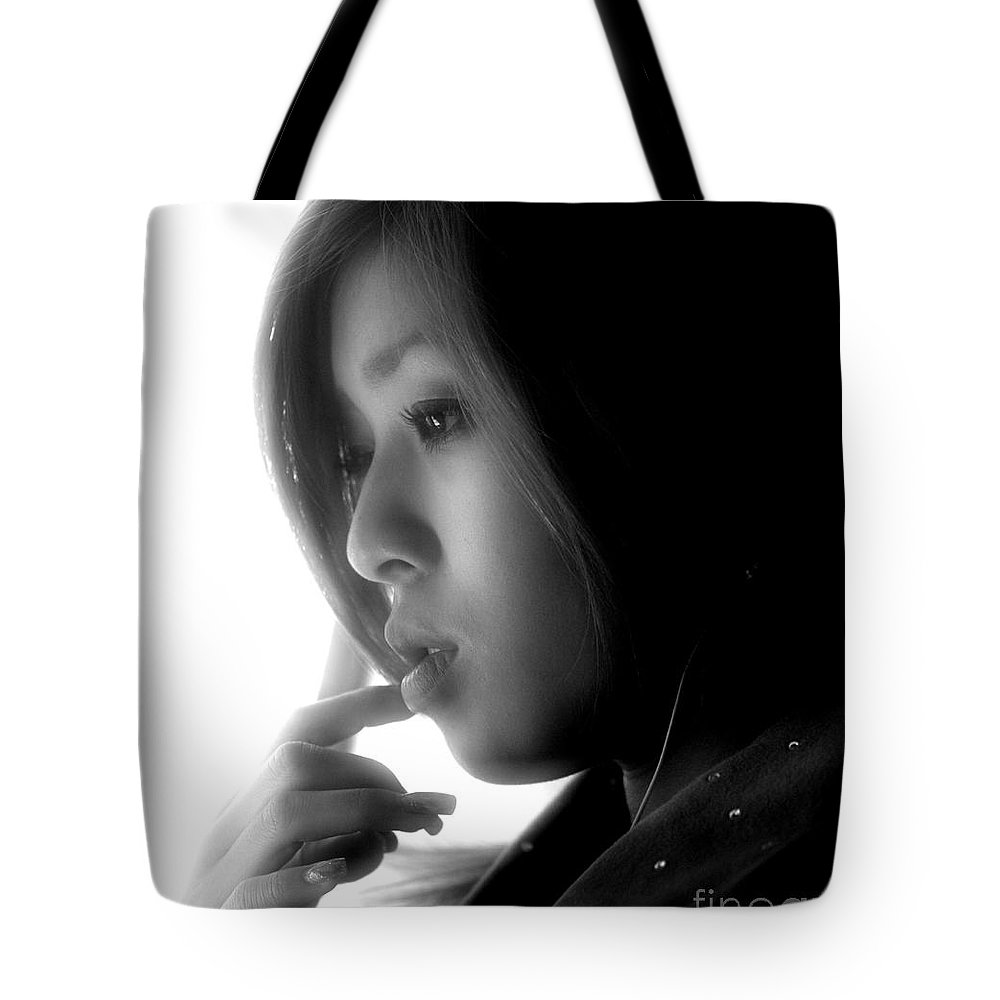 Tote Bag featuring the photograph Young Woman On Manly Ferry by Sheila Smart Fine Art Photography