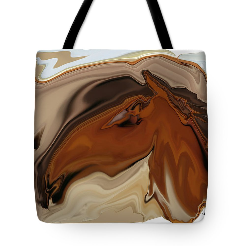 Youngster Tote Bag featuring the digital art Youngster by Rabi Khan