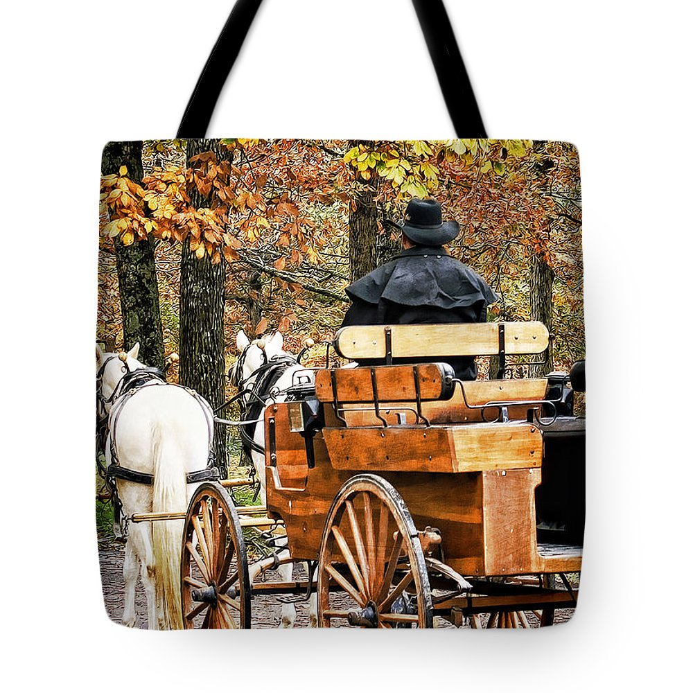 Carriage Tote Bag featuring the photograph Your Carriage Awaits by TnBackroadsPhotos