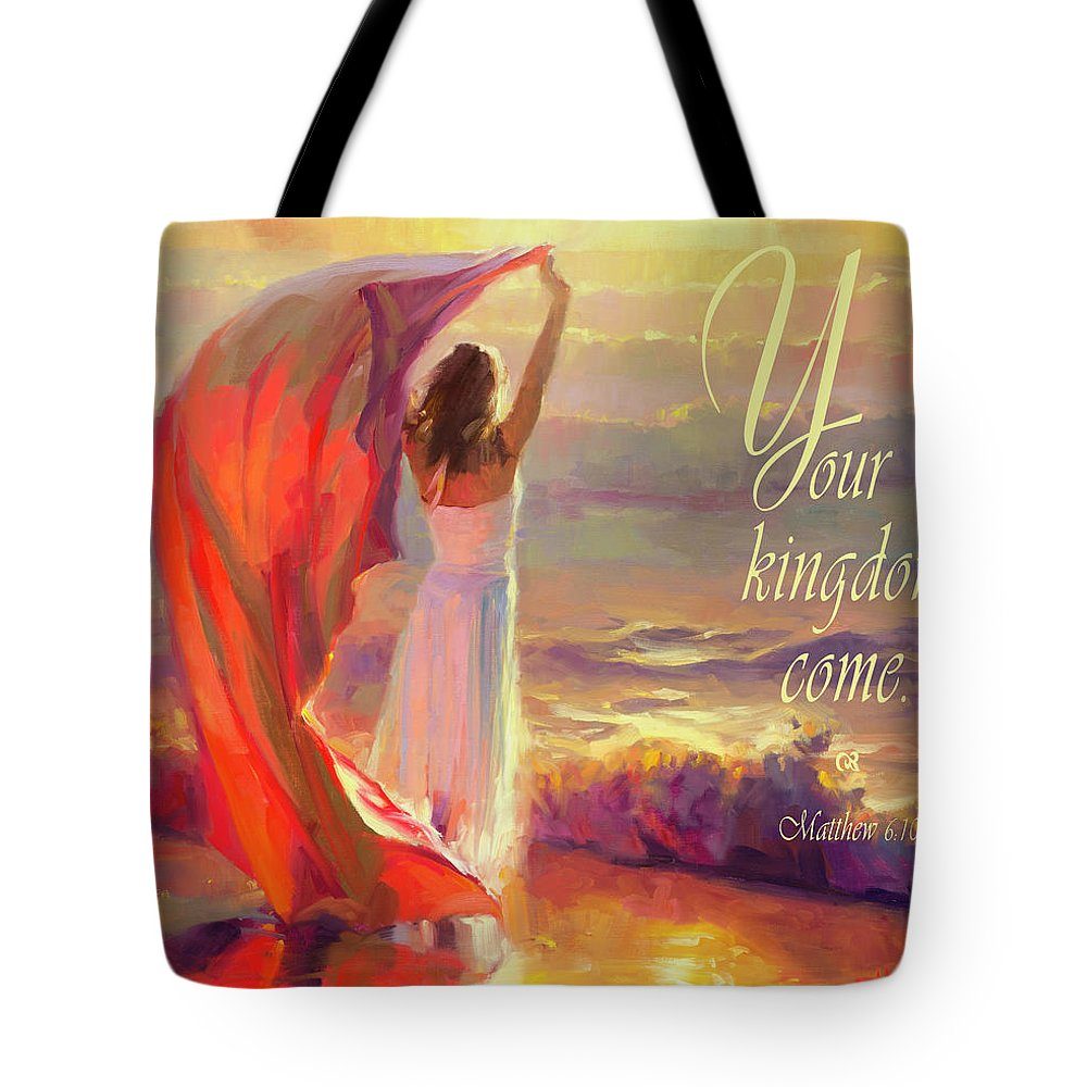 Christian Tote Bag featuring the digital art Your Kingdom Come by Steve Henderson