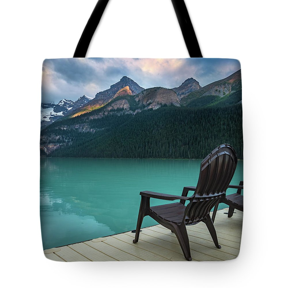 Banff Tote Bag featuring the photograph Your Next Vacation Spot by William Freebilly photography
