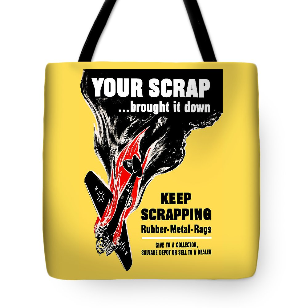 German Plane Tote Bag featuring the painting Your Scrap Brought It Down by War Is Hell Store