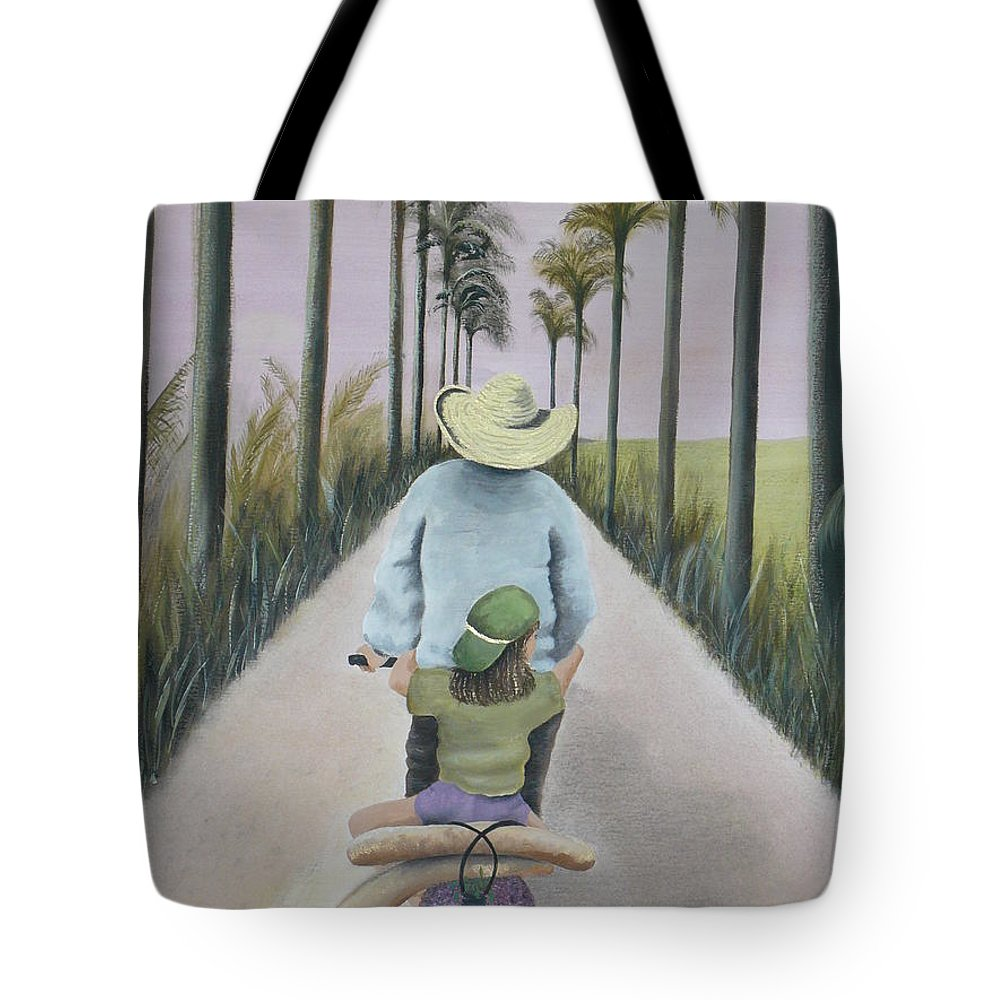 Tropical Tote Bag featuring the painting You're The Best by Kris Crollard