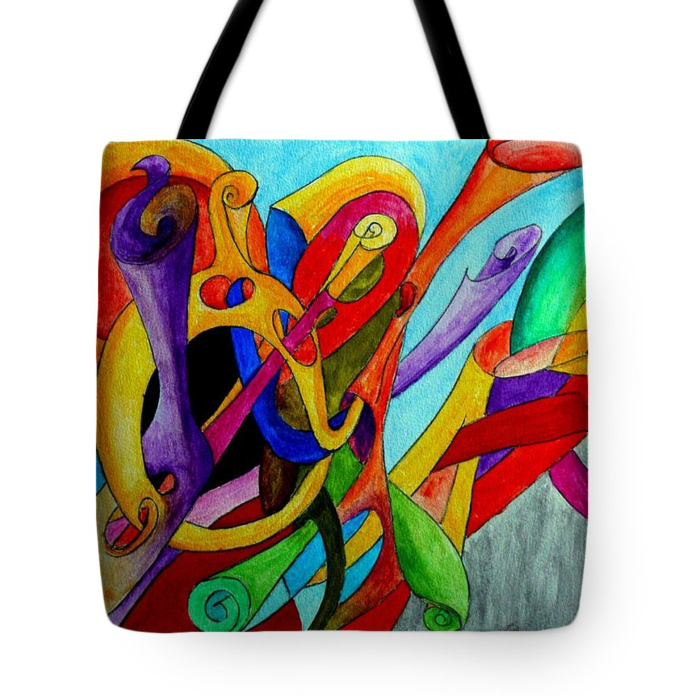 Yourname Tote Bag featuring the painting Yourname by Helmut Rottler