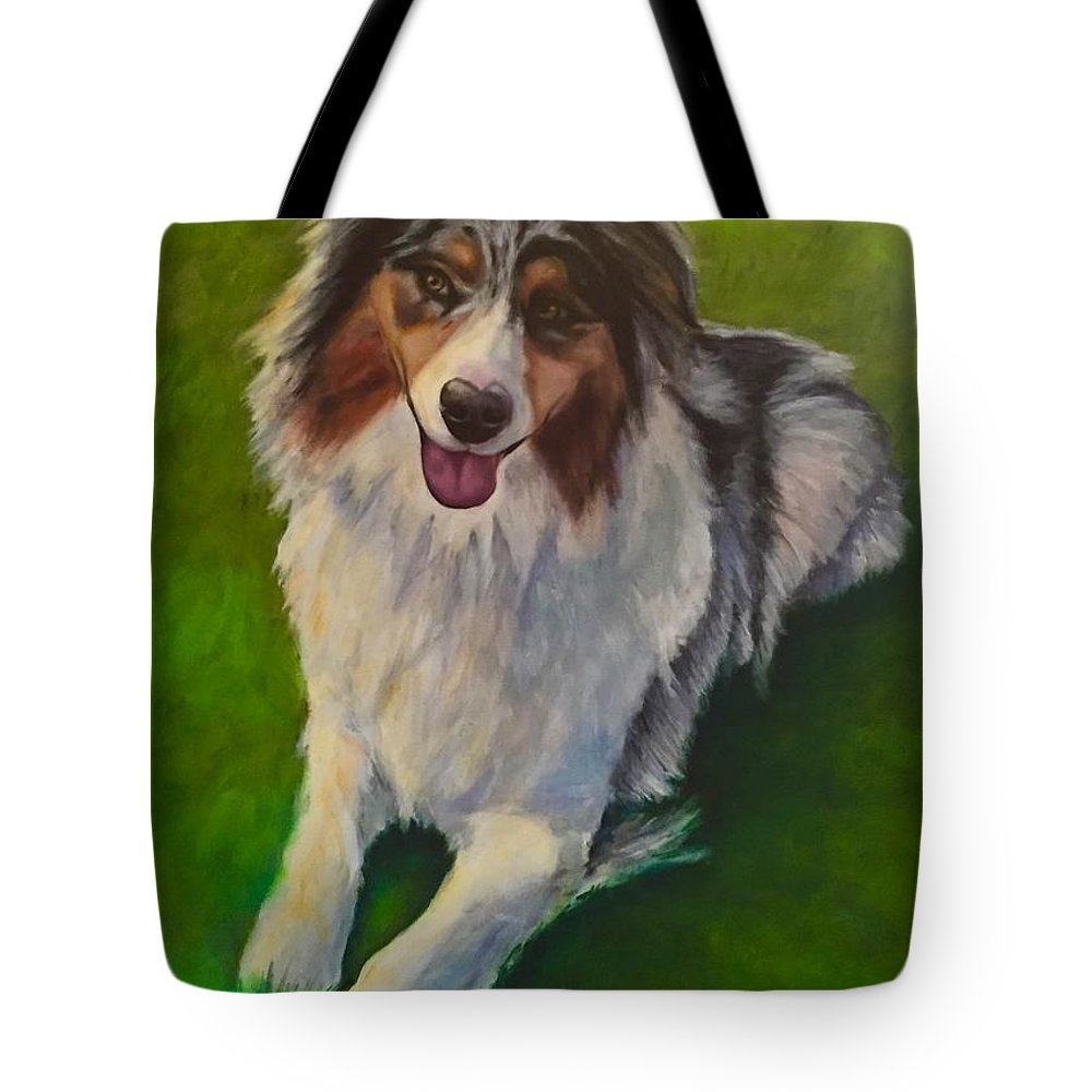 Yuki Tote Bag featuring the painting Yuki by Shannon Grissom